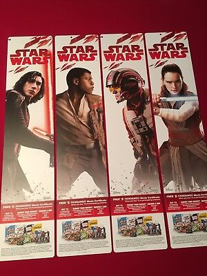 Complete Star Wars Tlj The Last Jedi Store Display Banners New Rare Double Sided