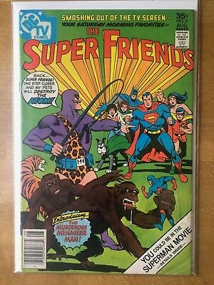 SUPER FRIENDS #6 (Fine) 1977 DC Comics - TV Superman The Atom Wonder Woman