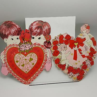 Cupid Mod Cardboard Wall Decor Cutout Valentine Boy Girl Eureka Lot 2 Pink Red