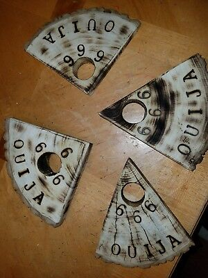 Wooden Ouija Board Planchette W Aleister Crowley Symbols Engraved
