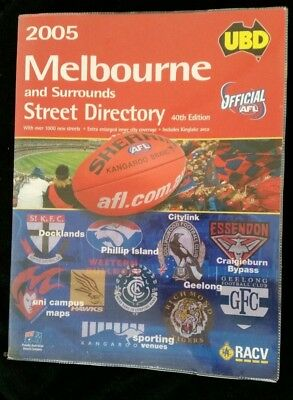 Ubd Official Afl 2005 Melb Street Directory 40Th Edition-Free Post!!!!!