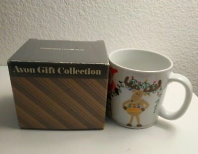 AVON vintage 1985 Christmas Lights Collectors Mug w/box in Perfect Condition!