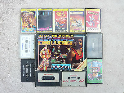 13 Vintage Sinclair Spectrum 128K +2 Computer Tape Games Good Used Condition