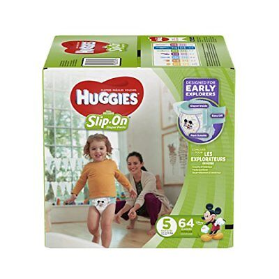 PACK of 2 Huggies Little Movers Diaper Pants for boys size 5 38 count total