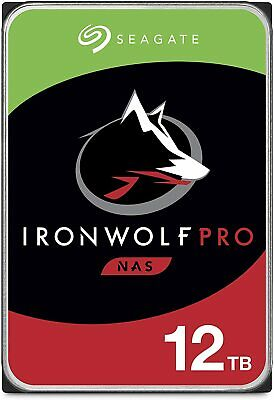 "Seagate IronWolf Pro 3.5"" 12TB NAS HDD 7200rpm SATA Internal Hard Disk Drives"