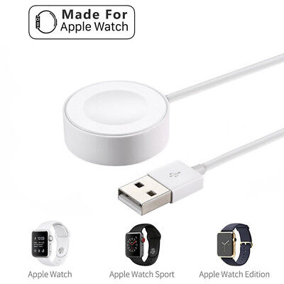 3.3ft 1M Magnetic Charger Charging Cable For Apple Watch iWatch 2 3 4 38mm 42mm