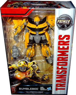Transformers The Last Knight Bumblebee Deluxe Action Figure Premier Edition MIB!