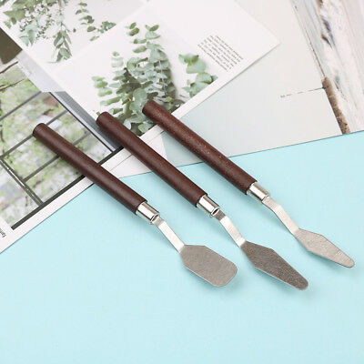 3x/set painting palette knife spatula mixing paint stainless steel art kniWG