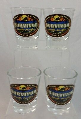 Survivor South Pacific CBS Television reality show 2011 shot glass set 4