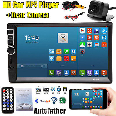 "7"" 2 DIN Bluetooth HD Car Multimedia FM Radio TV AM MP5 Player+Rear View Camera"