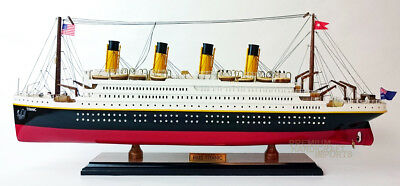 """24"""" RMS Titanic Handcrafted Model Ship Display Ready"""