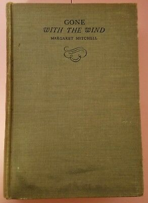 Gone with the Wind by Margaret Mitchell (1936) Vintage 1st Ed. 8th Printing