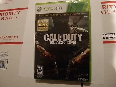 New Sealed 2010 Call of Duty Black Ops with 5 Bonus Maps Microsoft Xbox 360