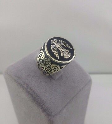 Handcraft 925 Sterling Silver Turkish Jewelry  Men's Ring  All Size