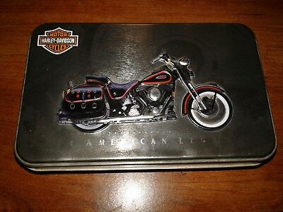 harley davidson playing cards in tin never been used