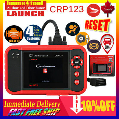 LAUNCH X431 CRP123 OBD2 OBDII EOBD Auto Engine Diagnostic Scan Tool ABS SRS A/T