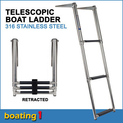 3 Step Telescoping Boat Ladder Telescoping Stainless Steel Swim Step Transom