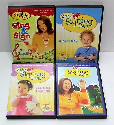 Baby Signing Time Dvd Lot Of 4 Songs New Day Lets Be Friends