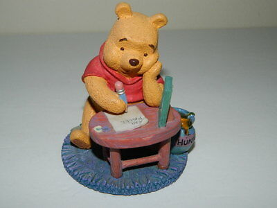 Winnie the Pooh One Is Much Lonelier Than 2 Figurine Collectible Letter Piglet