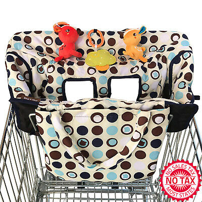 2-in-1 Shopping Cart Cover  High Chair Cover Polyester Fabric For Baby  Medium