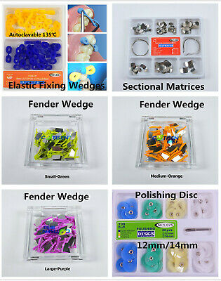 Dental Elastic Fixing Wedges Rubber Dam Sectional Contoured Matrice Matrix Bands