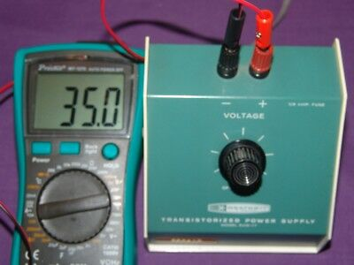 Heath Built Transistorized Power Supply EUW-17 WORKS FULLY TESTED