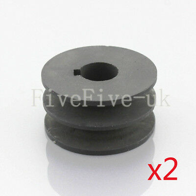 2PCS A Type Pulley Double V Groove Bore 19/22/24/28mm OD 70mm for A Belt Motor