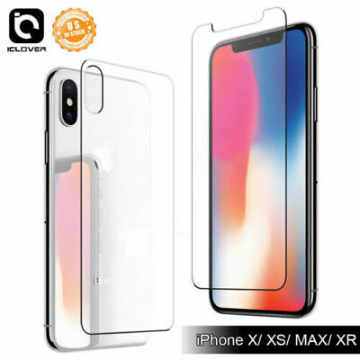 Front / Back Tempered Glass Screen Camera Lens Protector For iPhone XS Max XR 8