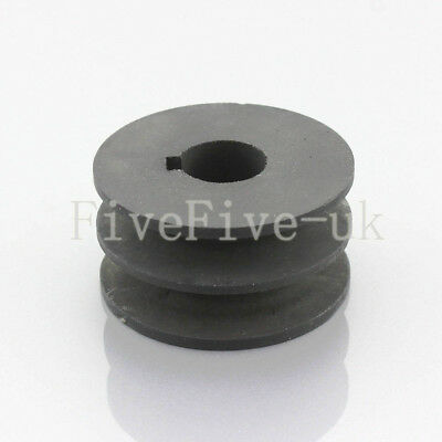 A Type Pulley Double V Groove Bore 19/22/24/28mm OD 80mm for A Belt Motor