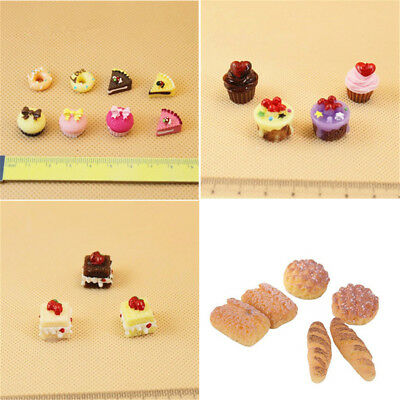 1:12 Dollhouse Miniature Kitchen Food Accessories Cake Dessert Bread Toys Set