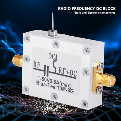 RF Bias Tee Coaxiale large bande Micro-onde Radio Fréquence 10 MHz-6 GHz DC1-50V