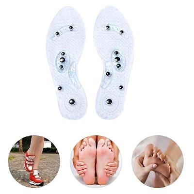 1Pair Therapy Acupressure Massage Magnétique Semelle Semelle Gel Pad Pied Relax