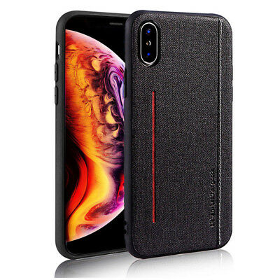 Luxury Magnetic PU Cloth Ultra Slim Hard Case Cover For iPhone XR XS Max 7 Plus