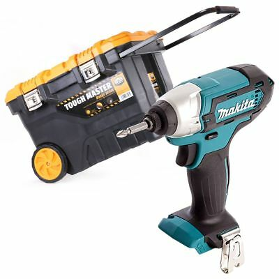 Makita TD110DZ 10.8V CXT Impact Driver With 28'' Tool Box Chest on Wheels