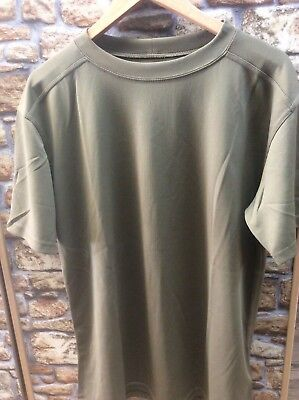 Genuine British Army Light Olive Coolmax T-Shirt Size XL, NEW 190 / 110 pcs mtp