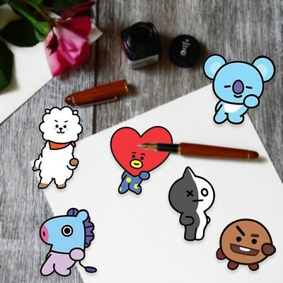 KPOP BTS Phone Stickers Paper Cute Bubble Stickers Album Luggage Stickers NEW