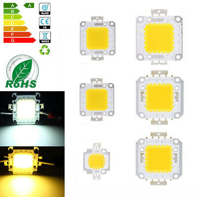 10W 20W 30W 50W 70W 100W 12V-36V High Power LED Lamp Light COB SMD Bulb Chip DIY