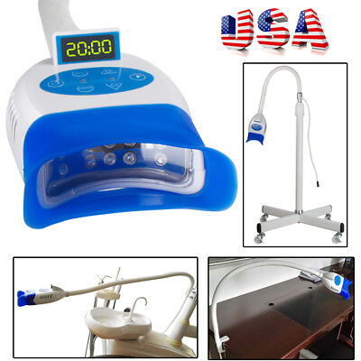 30W Movable/Chair/Desk Type Dental Teeth Whitening LED Cool Light Bleaching USA