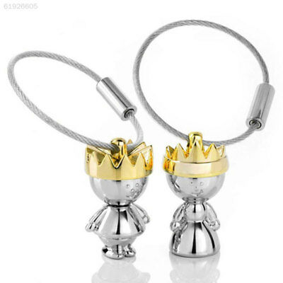 Pair Couple King Queen Lover Shape Key Chain Keychain Key Ring Gifts For Friends