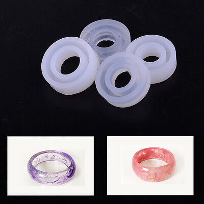 New 4 Size Silicone Resin Ring Moulds Tools Set Mold Making Casting Jewelry DIY
