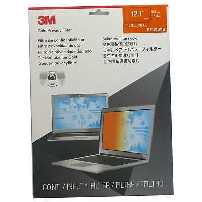 """3M Gold Privacy Filter for 12.1"""" Widescreen Laptop (16:10) GF121W1B"""