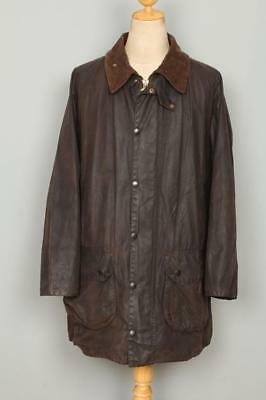 BARBOUR Gamefair WAXED Jacket Brown Size 44 Large