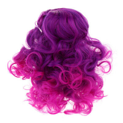 "Doll Making Supplies - Gradient Curly Hair Wig - DIY for 18"" American Girl"
