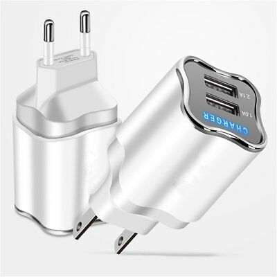 Quick Charge Dual USB 5V/2A Mobile Phone Wall Home Travel Fast Charger Adapter