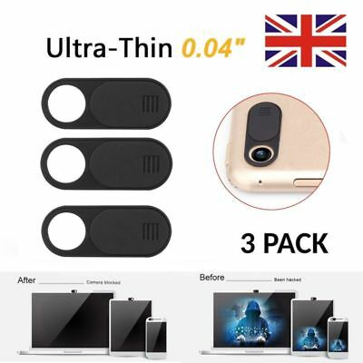 3 Pack Webcam Cover Web Camera Privacy Blocker fr Computer ipad Ultra-Thin Black
