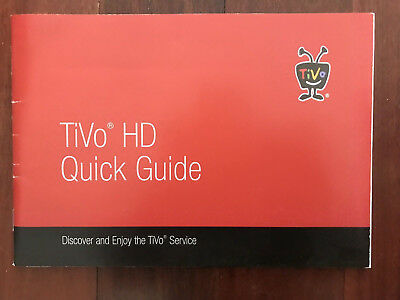 Tivo HD Quick Guide 34 Pages Instructions Troubleshooting
