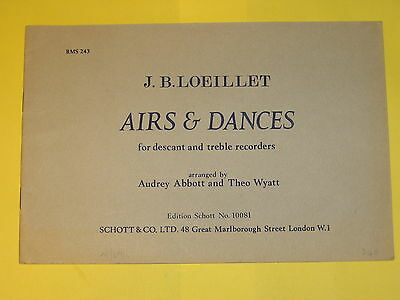 Noten - Airs & Dances , for descant and treble recorders , gebr.