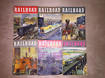 Lot of 12 Vintage 1948 Railroad Magazines, MONTHLY ISSUES, complet year
