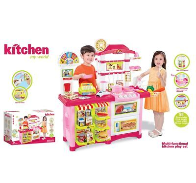 Kids Children's Grocery Shop Kitchen Food Pretend Play Cooking Toy Playset
