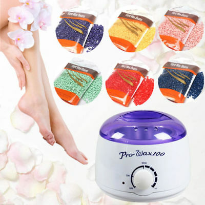 300g Depilatory Hard Wax Beans Hair Removal Accessories / Wax Warmer Heater